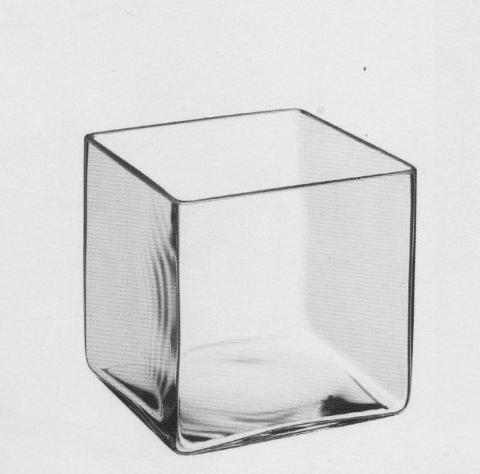 Cubo vetro trasparente cm.30x30x30 per Fioristi e Wedding