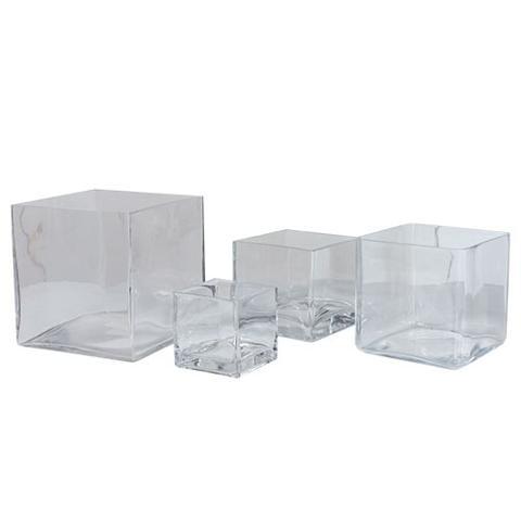 Cubo vetro trasparente cm. 14/16/18/20 - Sconti per Fioristi e Aziende