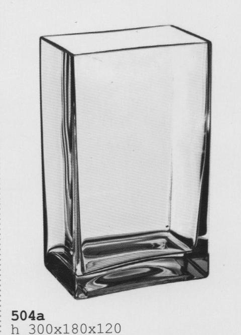 Vaschetta  Rettangolare in Vetro cm. 18 x 12 H 30 per fioristi e wedding