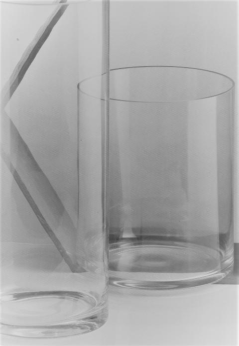 Cilindro Vetro H 35 dm. 38 trasparente - Sconti per Fioristi e Aziende
