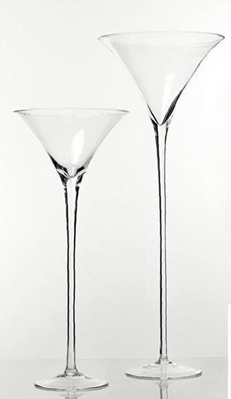 Coppa Martini H 40 dm. 16,5 in vetro - Sconti per Fioristi e Aziende