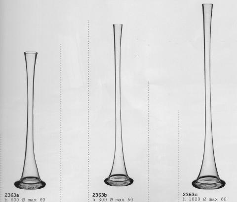 Vaso Cono Monofiore H 60 dm.6 in vetro