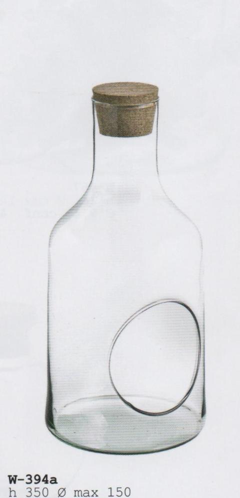 Ampolla Vetro da Appendere con cordino H 35 dm.15 - Sconti per Fioristi e Aziende