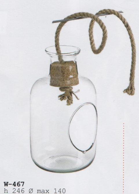 Ampolla Vetro da Appendere con cordino H 24 dm.14 - Sconti per Fioristi e Aziende