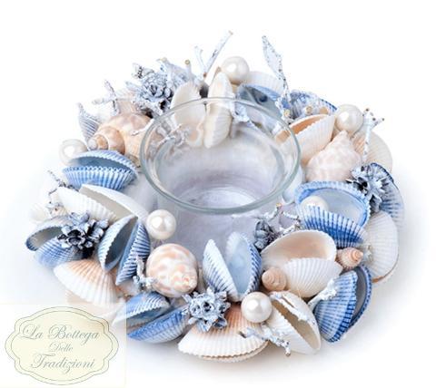 Porta tea light in vetro H 4,5 dm. 6,5 per fioristi e wedding