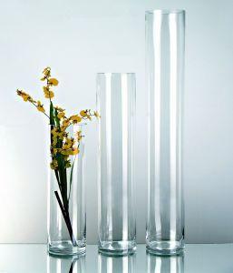 Cilindro Vetro H 40 cm. dm.10 per fioristi e wedding