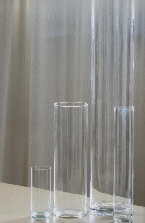 Cilindro Vetro H 25  dm. 8 - Sconti per Fioristi e Aziende