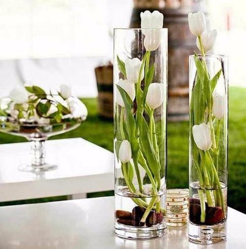 Cilindro Vetro H 20 cm. dm.10 per fioristi e wedding