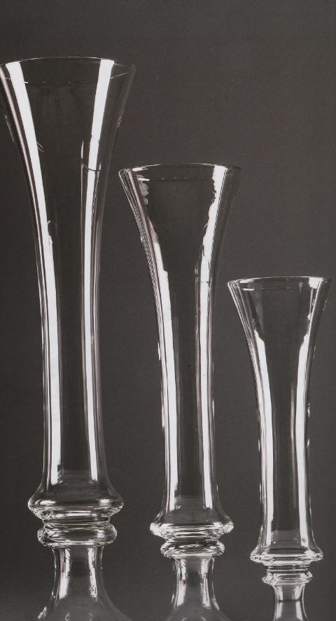 Calice in vetro con anelli H 70 dm. 18 per fioristi e wedding
