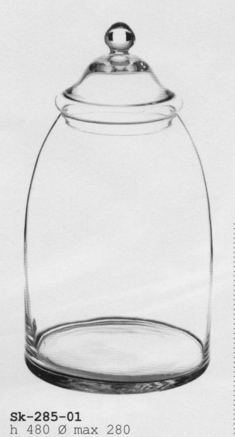 Confettiera in vetro con coperchio H 45 - dm.28 per fioristi e wedding