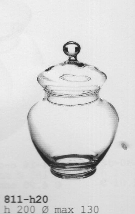 Confettiera in vetro con coperchio H 20 - dm.13 - Sconti per Fioristi e Aziende