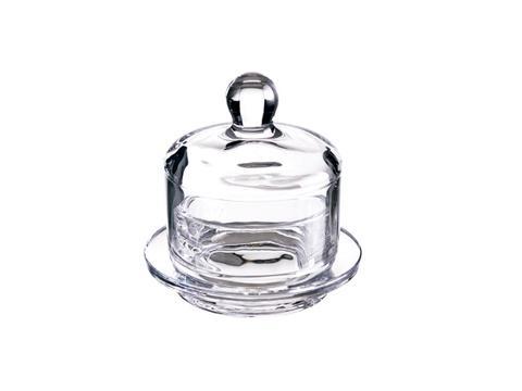 Zuccheriera in vetro con piatto liscio Dm. 10,5 H 10,5 - Sconti per Fioristi e Aziende
