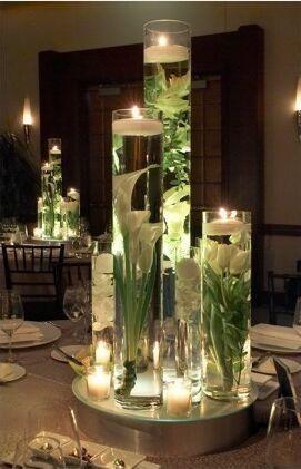 Cilindro Vetro H 50 cm. dm.10 per fioristi e wedding