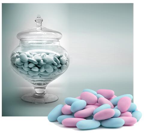 Confettiera in vetro con coperchio H 26 - dm.18 per fioristi e wedding