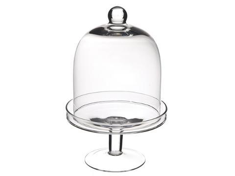 Alzata portadolci con campana in vetro H 24 dm.16 - Sconti per Fioristi e Aziende