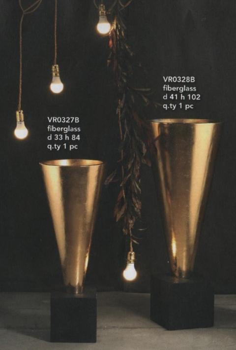 Vaso oro a Cono Gigante  H 84 - H 102 per fioristi e wedding