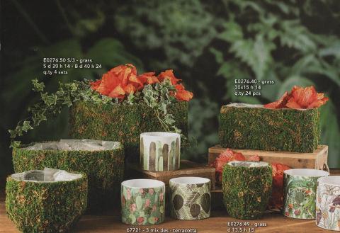 Vasi Effetto Kokedama varie forme per fioristi e wedding