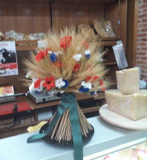 Mazzo legato con Spighe, Papaveri e Fiordalisi H 45 dm. 40 per fioristi, wedding e Arredatori