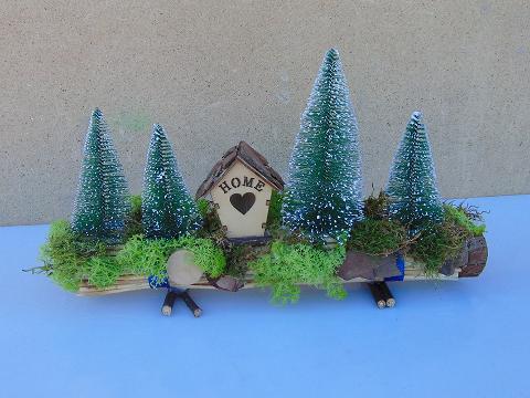 Tronchetto con casa e alberi in 2 modelli - Sconti per Fioristi e Aziende