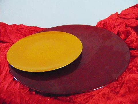 Piatto in PVC cm. 18 e 28 Arancio e bordeaux - Sconti per Fioristi e Aziende