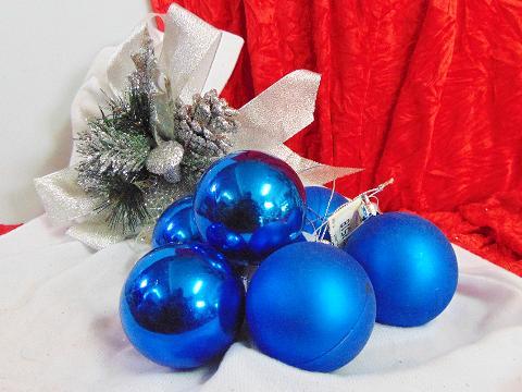 Palline di Natale x 3 dm. 60  Lucide - Matt - Sconti per Fioristi e Aziende