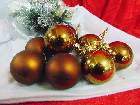 Palline di Natale x 4 dm. 50  Lucide - Matt - Sconti per Fioristi e Aziende