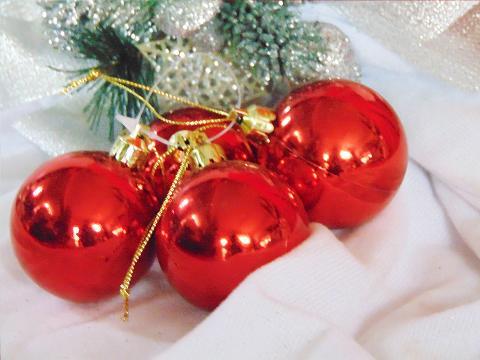 Palline di Natale x 2 dm. 80 Lucide - Matt - Sconti per Fioristi e Aziende