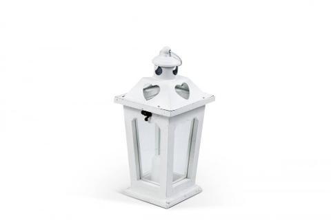 Lanterna singola con cuore H 32,5  - Sconti per Fioristi e Aziende