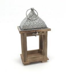 Lanterne quadra con tetto arabesque H 27,5 - Sconti per Fioristi e Aziende