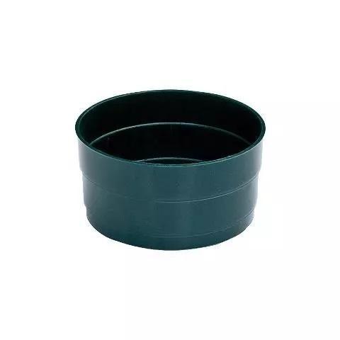 Tamburella dm. 10 H 6 in plastica Verde - Sconti per Fioristi e Aziende