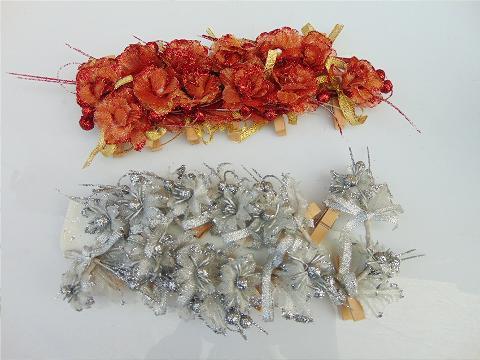 Mollette Roselline x 12 vari colori - Sconti per Fioristi e Aziende
