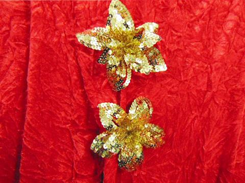 Fiori Oro x 2 con clip e paillettes - Sconti per Fioristi e Aziende