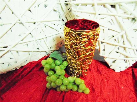 Vaso oro interno rosso H 20 dm. 10 - Sconti per Fioristi e Aziende