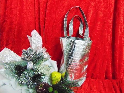 Borsina argento  cm 13 in poliestere - Sconti per Fioristi e Aziende