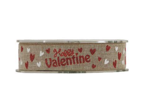 Nastro Happy Valentine H 25 Articolo per San Valentino - Sconti per Fioristi e Aziende