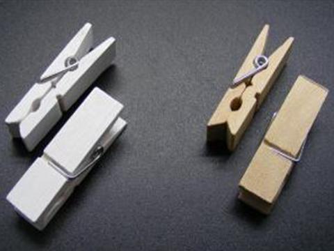 Mollette in legno naturale e bianco mm 11 - Sconti per Fioristi e Aziende