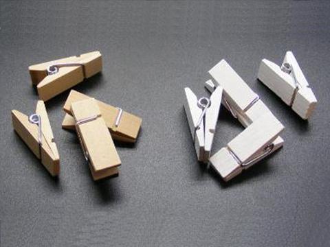 Mollette a piramide in legno naturale e bianco mm 11 - Sconti per Fioristi e Aziende