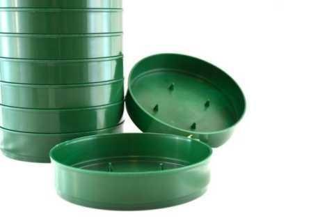 Ciotola Bassa dm. 16 H. 4 in plastica Verde - Sconti per Fioristi e Aziende