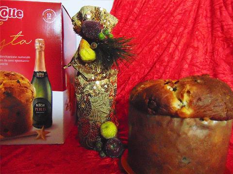 Porta Bottiglia Oro H 39 dm 14 con paillettes - Sconti per Fioristi e Aziende