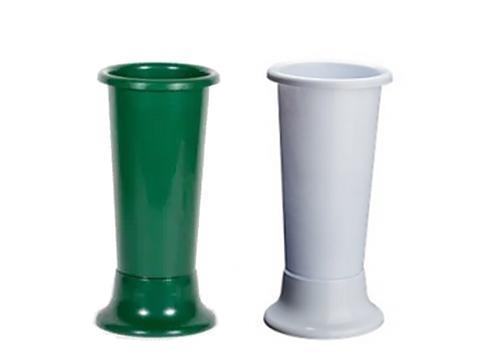 Portafiori Ideal H 35 dm. 14 bianco o verde - Sconti per Fioristi e Aziende