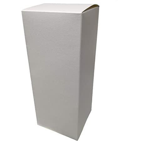 Scatola per bomboniera pieghevole H 25 cm. 8 x 8 sorgente bianca - Sconti per Fioristi, e Aziende