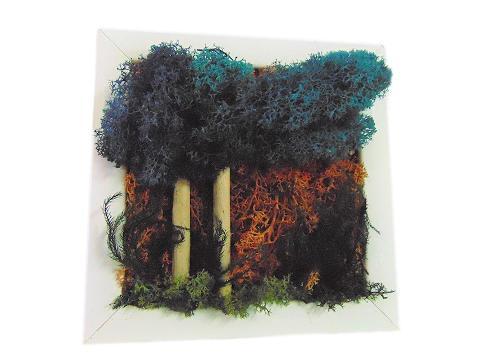 Quadro muschiato alberi cm. 20 x 20 - Sconti per Fioristi e Aziende