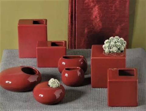 Vasetti in ceramica GAV corallo - Sconti per Fioristi e Aziende