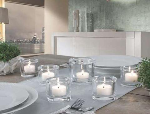 Porta tea light in vetro H 6,5 dm. 7 - Sconti per Fioristi e Aziende
