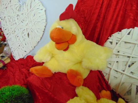 Gallo peluches H 40  con cerniera - Sconti per Fioristi e Aziende