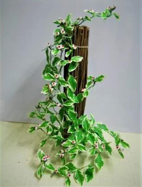 Fascina di Salice Naturale con rami pendenti in poliestere - Sconti per Fioristi e Aziende