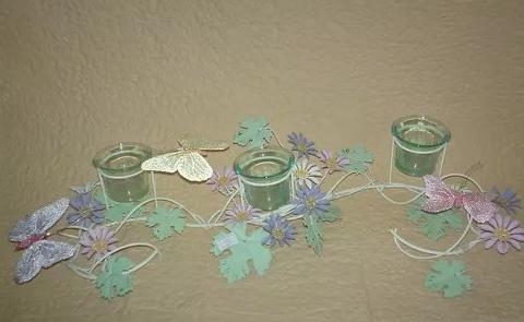 Porta candela x 3 in metallo colorato - Sconti per Fioristi e Aziende