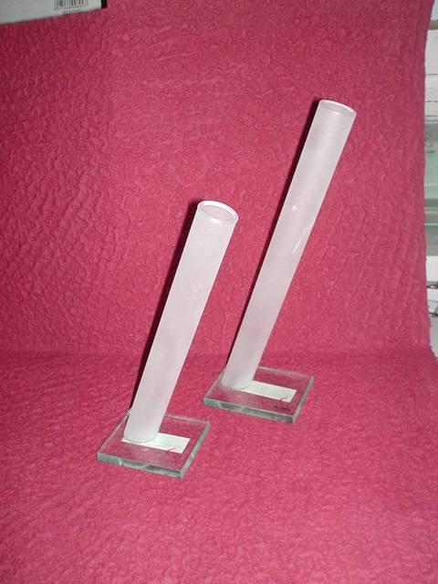Vaso vetro Monofiore satinato Linea Side