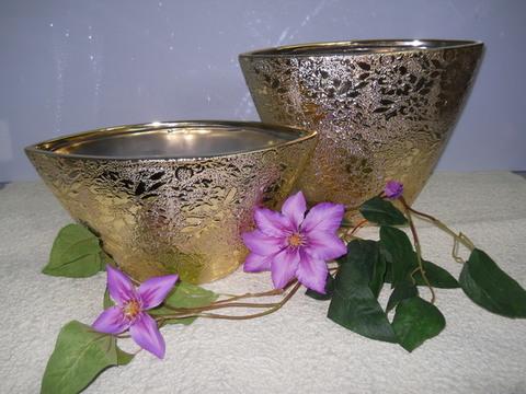 Vaso Ellisse  Nefertiti oro in 2 modelli