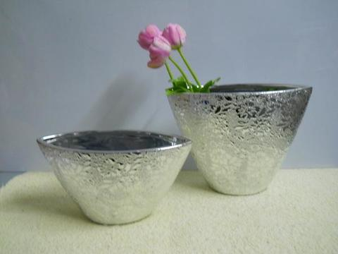 Vaso Ellisse Nefertiti  argento in 2 modelli